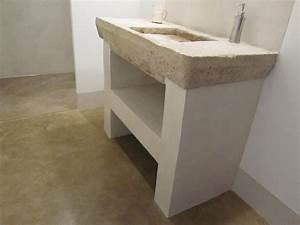 Salle De Bain Beton Cire : salle d 39 eau jambages et mur en beton photo de beton ~ Dailycaller-alerts.com Idées de Décoration