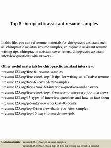 top 8 chiropractic assistant resume samples With cover letter for chiropractic assistant