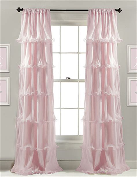 pink curtains and window treatment ideas for a baby