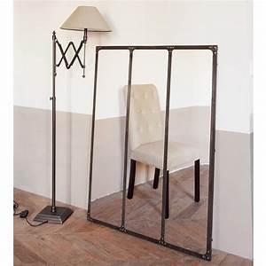 Miroir En Mtal Effet Rouille H 120 Cm CARGO Maisons Du