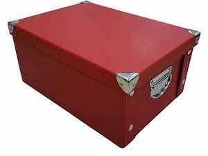 Grosse Boite De Rangement : boite 15x24x33 cm full 2 coloris rouge vente de bo te de rangement conforama ~ Teatrodelosmanantiales.com Idées de Décoration