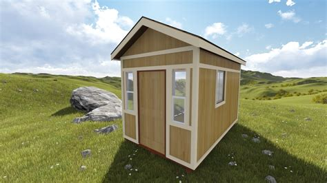 Garden Shed Plans 8x12 by 8x12 Gable Storage Shed Plan