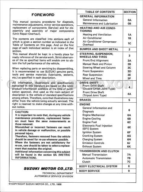 how to download repair manuals 1988 suzuki swift parking system 1989 suzuki swift 1300 gti repair shop manual original