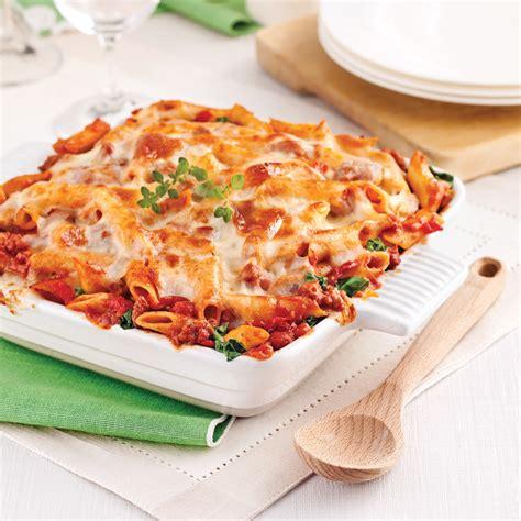 cuisine italienne pates gratin de pâtes sauce italienne aux tomates séchées recettes cuisine et nutrition pratico
