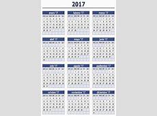 ALGUNOS CALENDARIOS 2017 PREDEFINIDOS « PARA JEFATURAS