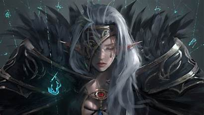Dark Elf Fantasy Woman Artwork 1080p