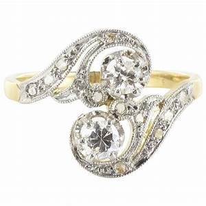 1900s french antique diamond gold s shaped ring for sale With 1900 wedding rings