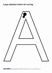Number names worksheets big alphabet letters to print for Whiteboard letter stencils