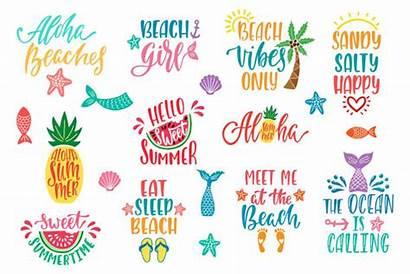 Quotes Beach Vibes Inspirational Aloha Summer Hello
