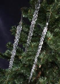 crystal clear icicle ornaments christmas ornaments christmas and winter holiday crafts