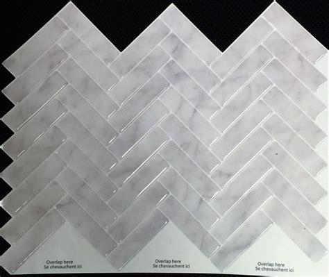 stick  tiles grey marble herringbone peel  stick
