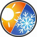 Heating Cooling Icon Hvac Clipart Air Conditioning