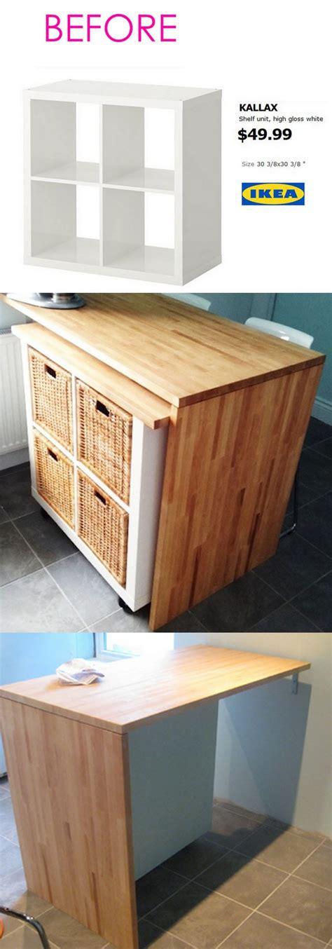 diy ikea kitchen island 20 smart and gorgeous ikea hacks great tutorials 6812