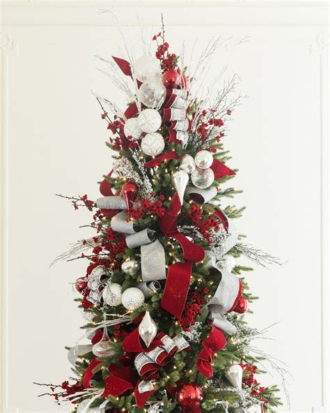 red white  sparkle christmas tree christmas tree