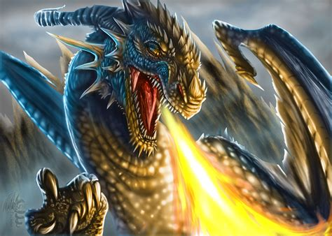 This is a wallpaper of breath of fire iv. Angry Fire Breath Dragon wallpaper :: Download to mobile ...