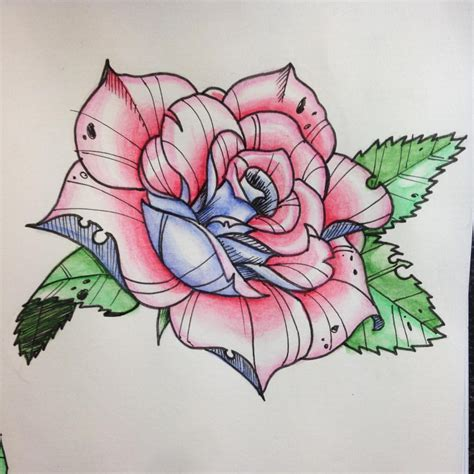 Neo Traditional Rose Tattoo Design  Amazing Tattoo