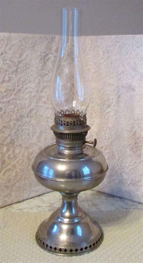 antique nickel plated rayo kerosene oil l w wick