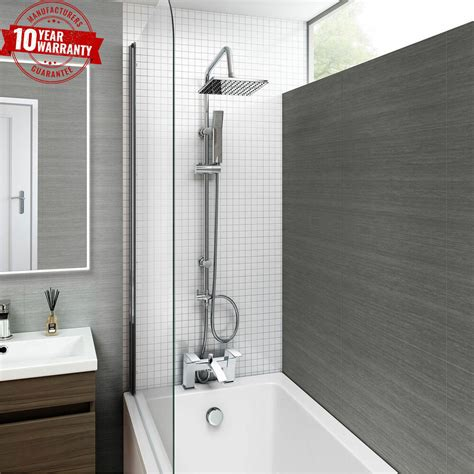 Bath Shower by Chrome Bath Shower Mixer Tap With 3 Way Square Rigid Riser