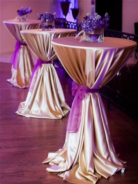 high top cocktail table cloths gold poly satin ps event rentals