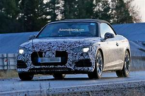 Audi A5 Cabriolet Spied With Stylish  Familiar Lines