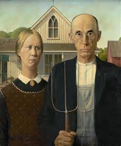 Image result for grant wood american gothic