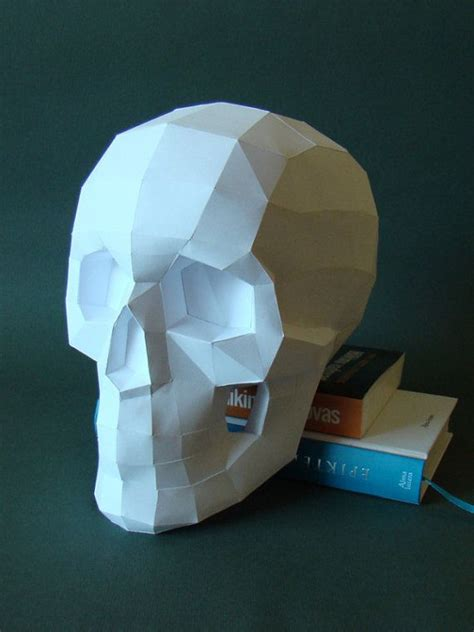 skull papercraft      real size