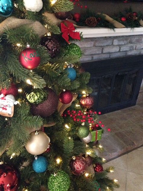 christmas tree color scheme christmas colors pinterest