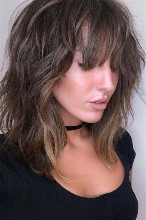 Medium Length Hairstyles Layered Haircuts With Bangs 2018