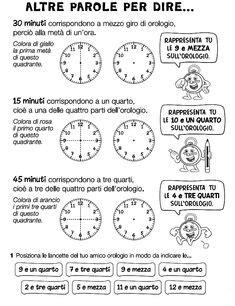 giochi e colori schede didattiche del maestro fabio schede didattiche di storia l orologio