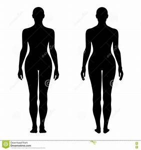 Fashion Woman's Solid Template Figure Silhouette (front ...