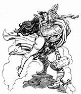 Thor Sif Norse Mythology Coloring Deviantart Sketch Ellis Steve Template Comics Deviant sketch template