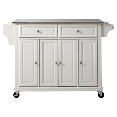 kitchen island casters stainless steel top kitchen cart island casters white 1860