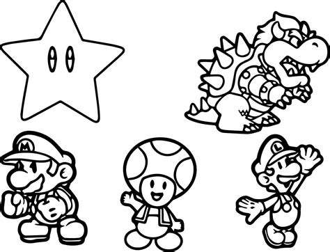 mario character coloring pages coloring home