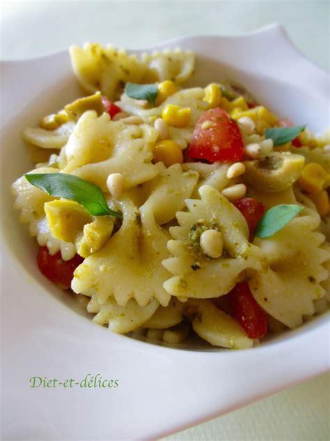 salade de p 226 tes au pesto diet d 233 lices recettes