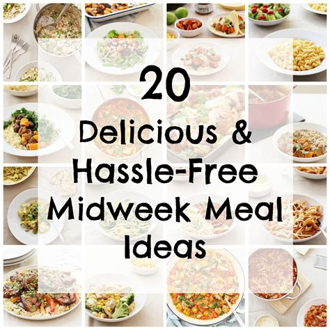 delicious  hassle  midweek meal ideas easy