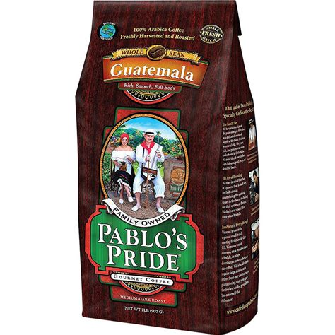 Don pablo knows you want great coffee and has dedicated himself to delivering it to you at the best possible value. Pablo's Pride Guatemalan Whole Bean Coffee, Medium-Dark Roast, 32 Oz - Walmart.com - Walmart.com