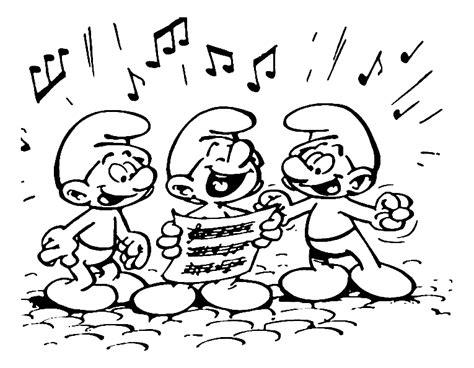 Zingen Kleurplaat by Luilak Kleurplaten Smurfen Zingen