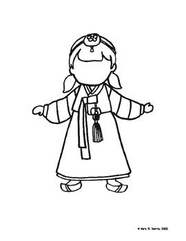 korea coloring pages   learn   teachers pay