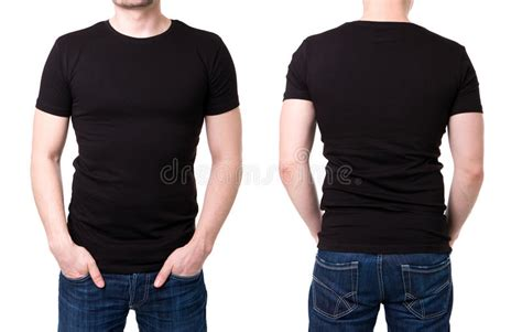 black  shirt   young man template stock photo image