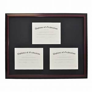 university triple document diploma frame gradshop With triple document frame