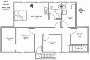 plan de maison 100m2 etage cuisine naturelle With plan maison 2 niveaux