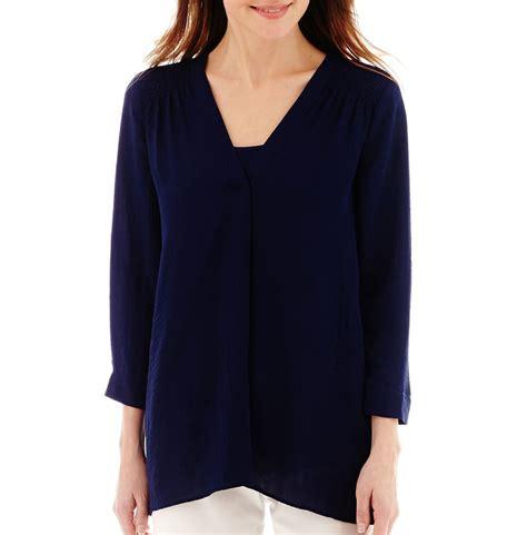 jcpenney plus size blouses blouse jcpenney lace henley blouse