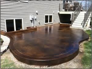 Staining Concrete Pavers Photo