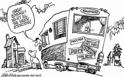 Tourist Cartoon Attractions Cartoons Editorial Political Keefe