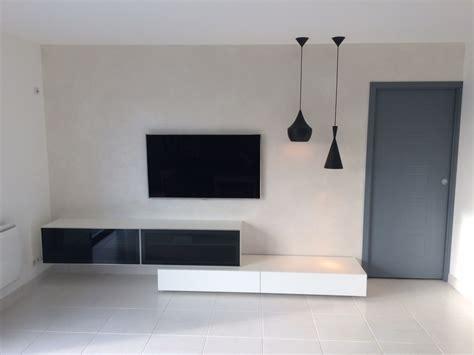 meuble tele sur mesure jv concept conception et r 233 alisation d int 233 rieur au design contemporain