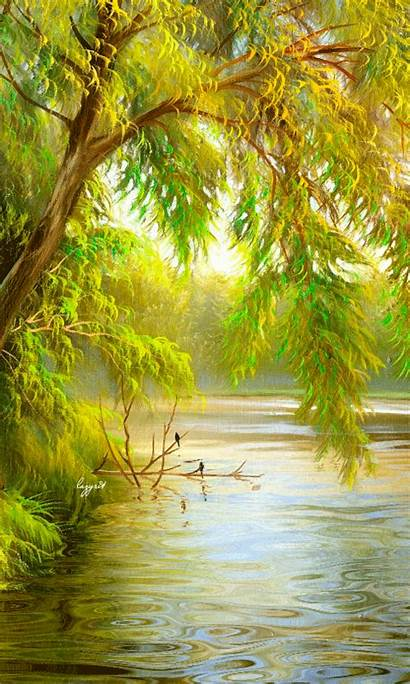 Nature Water Gifs Places Scenery Animated Place