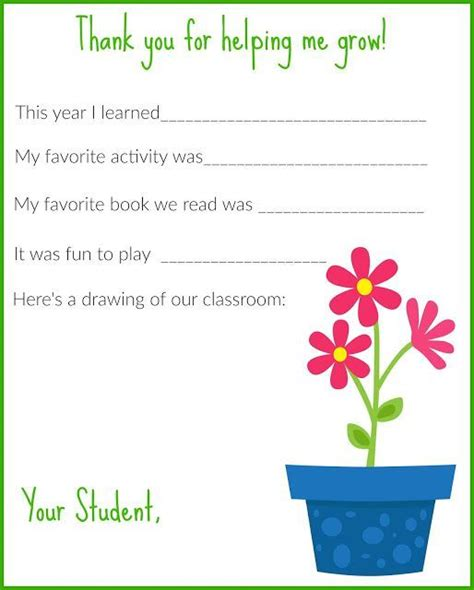 letter  teachers  printable teacher