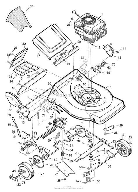 Murray Mower Carburetor Diagram by Murray 21765c Walk Mower 1996 Parts Diagram For