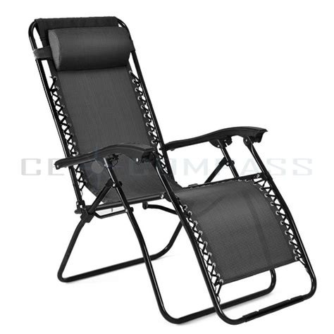 folding zero gravity chair recliner outdoor patio