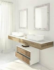 Caillebotis Salle De Bain Avis : 50 beau double vasque salle de bain ou tendance petite ~ Premium-room.com Idées de Décoration